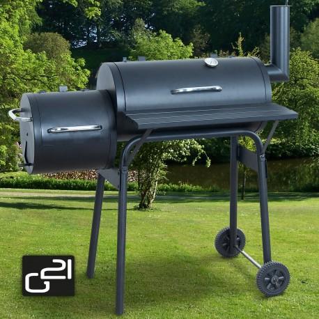 G21 BBQ small grillsütő - kis kerti grillsütő - mozdony