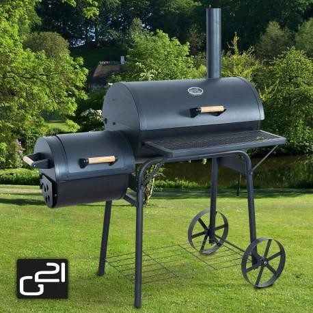 G21 BBQ big grillsütő - nagy kerti grillsütő - mozdony