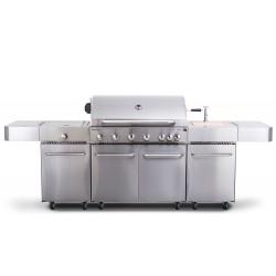 G21 Nevada grillkonyha beépített mosogatóval, hatalmas munkafelülettel